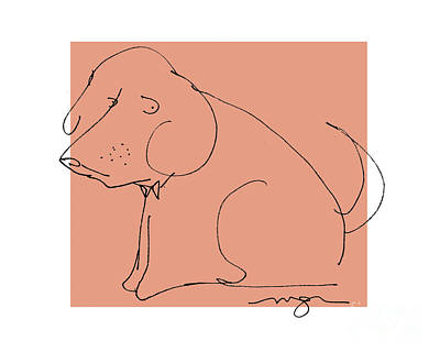 Orange Dog Art Print