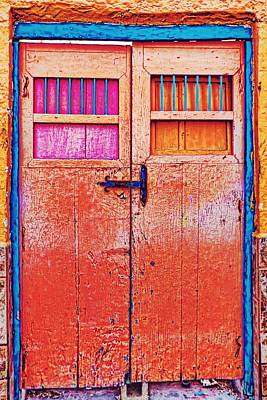 Photograph - Orange Door In Cozumel, Mexico by Tatiana Travelways
