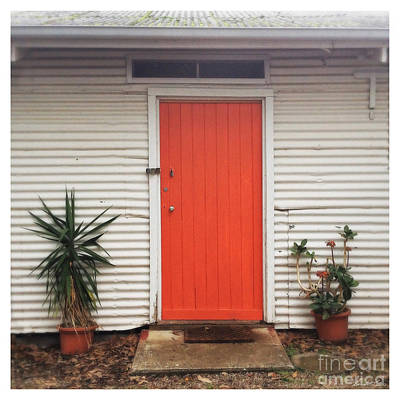 Photograph - Orange Door by Linda Lees