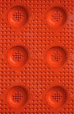Orange Dots Industrial Portrait Art Print