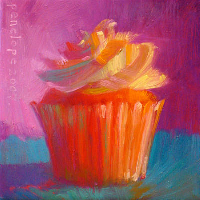 Gourmet Art Painting - Orange Dream by Penelope Moore