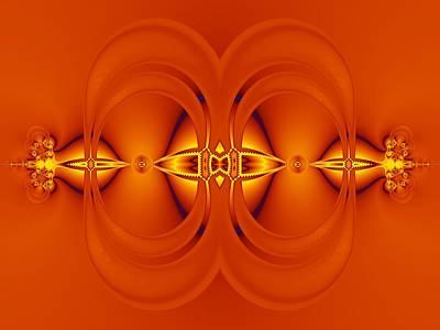 Digital Art - Orange Ducky by Nancy Pauling