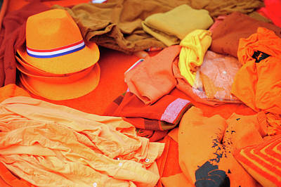 Photograph - Orange Dutch Clothing by Jenny Rainbow