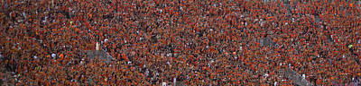 Crowd Scene Photograph - Orange Effect Celebration Game One 2015 by Betsy Knapp