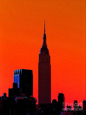 Photograph - Orange Empire State by Jacqueline M Lewis