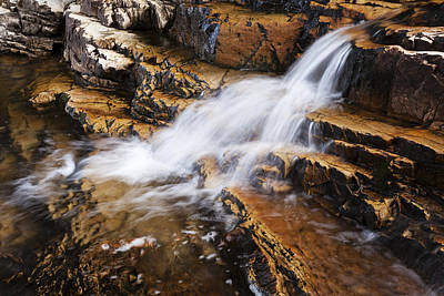 Water Fall Photograph - Orange Falls by Chad Dutson