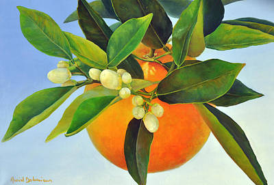 Painting - Orange Feuillue by Muriel Dolemieux