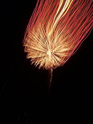 Photograph - Orange Firework by Michelle Miron-Rebbe