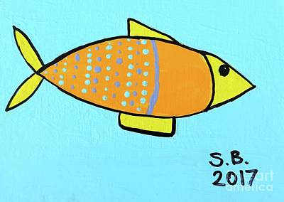 Painting - Orange Fish by Artists With Autism Inc
