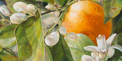 Painting - Orange Fleurie by Dolemieux