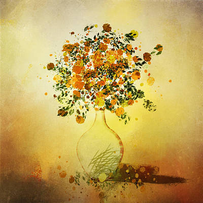Painting - Orange Flowers In Vase by Christina VanGinkel