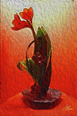Painting - Orange Flowers by Joan Reese