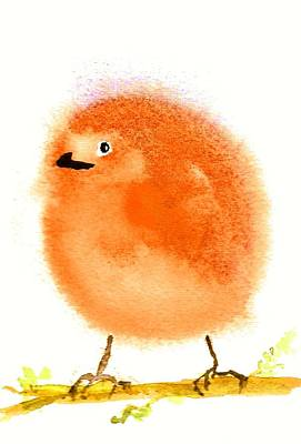 Painting - Orange Fluff by Anne Duke