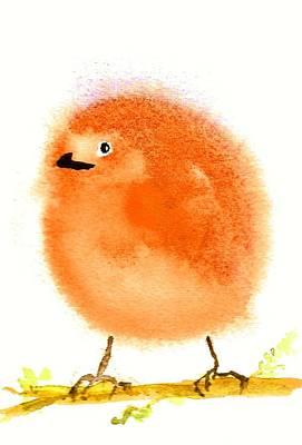 Painting - Orange Fluff by Anne Duke