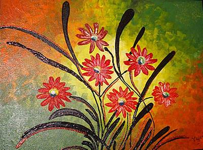 Orange For Happiness  Art Print by Xafira Mendonsa
