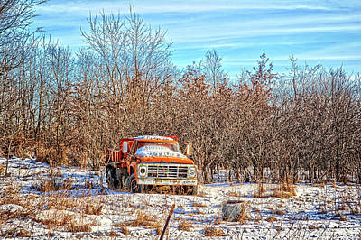 Photograph - Orange Ford Dump Truck by Bonfire Photography