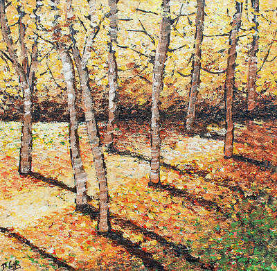 Covert Painting - Orange Forest by Diane Griffiths