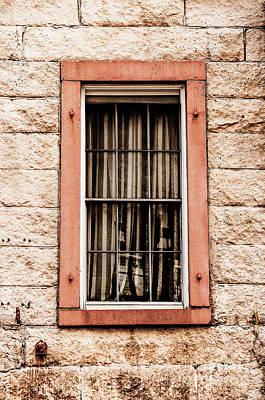 Photograph - Orange Framed Window by Frances Ann Hattier