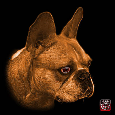 Painting - Orange French Bulldog Pop Art - 0755 Bb by James Ahn