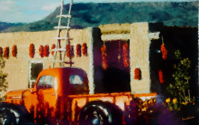 Photograph - Orange Fruit Stand Classic Velarde New Mexico by Anastasia Savage Ealy