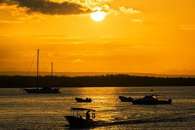 Red Roses - Orange Galapagos Sunset by Jess Kraft