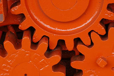 Photograph - Orange Gear 2 by Michael Raiman