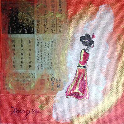 Painting - Orange Geisha by Roxy Rich