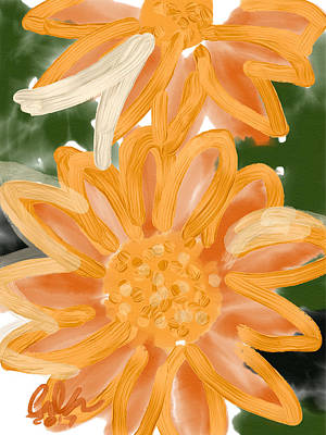 Orange Gerbers Art Print by Carl Griffasi