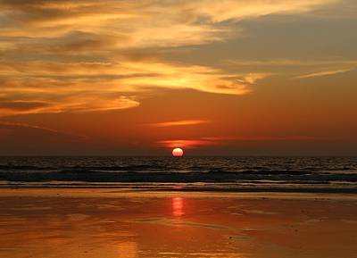 Photograph - Orange Glow Over The Ocean by Christy Pooschke