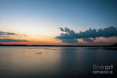 Photograph - Orange Glow Over The Wando River by Dale Powell