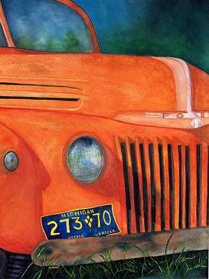 Painting - Orange Go Blue by Carolyn Koup