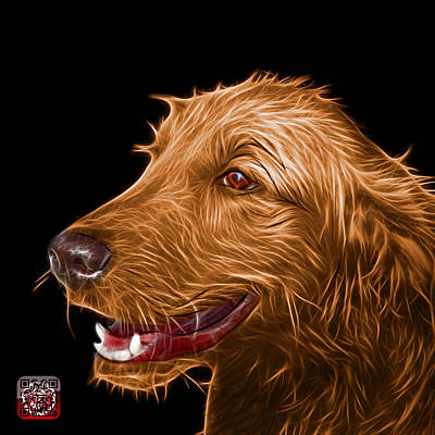 Painting - Orange Golden Retriever Dog Art- 5421 - Bb by James Ahn