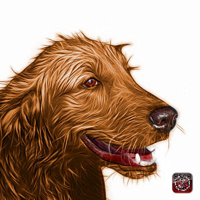 Painting - Orange Golden Retriever Dog Art- 5421 - Wb by James Ahn