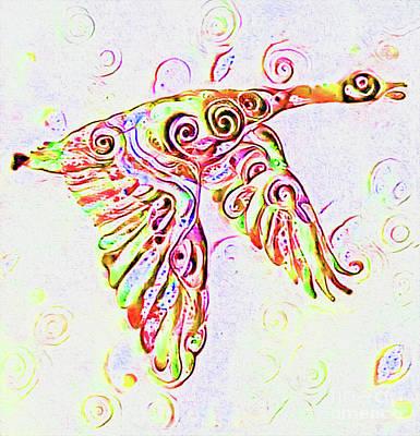 Orange Goose Print Art Print