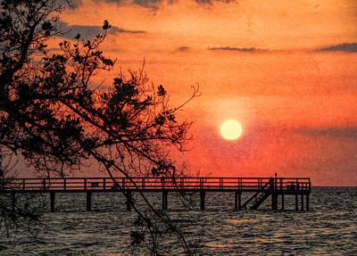 Photograph - Orange Grunge Sunset by Rosalie Scanlon