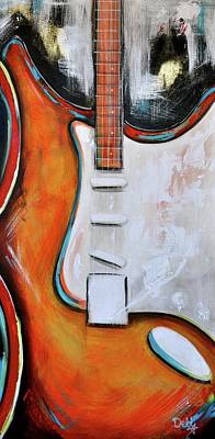 Painting - Orange Guitar by Debi Starr
