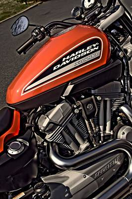 Corky Willis And Associates Atlanta Photograph - Orange Harley Sportster 1200 by Corky Willis Atlanta Photography
