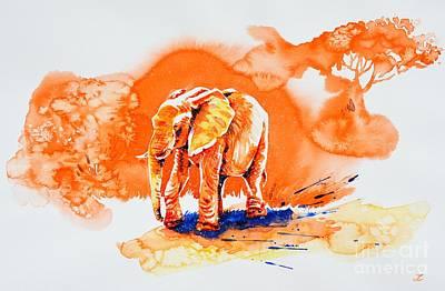 Painting - Orange Heat by Zaira Dzhaubaeva