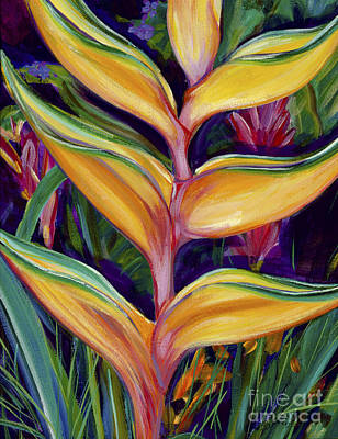 Bruce Art Painting - Orange Heliconia by Patti Bruce - Printscapes