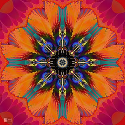 Digital Art - Orange Hibiscus by Jim Pavelle