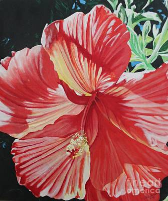 Painting - Orange Hibiscus by Terri Thompson