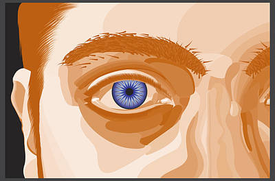 Orange Horror Eye Original
