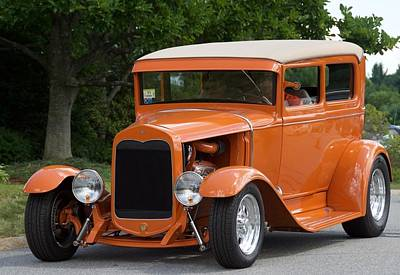 Photograph - Orange Hot Rod by Chris Alberding