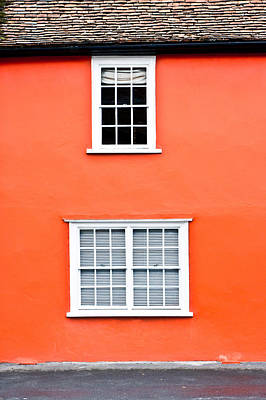 Frame House Photograph - Orange House by Tom Gowanlock
