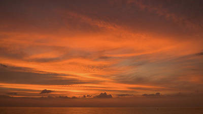 Photograph - Orange Insanity Sunset Venice Florida by Lawrence S Richardson Jr