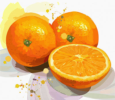 Outdoor Still Life Digital Art - Orange Is The Happiest Color  by Don Kuing