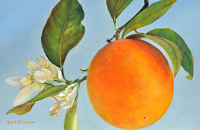Painting - Orange Isolee by Muriel Dolemieux