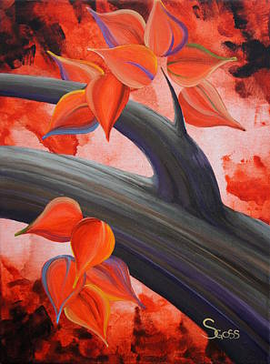 Painting - Orange Journey by Shiela Gosselin