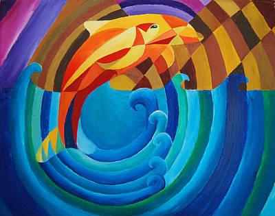 Orange Joy Art Print by Esther King