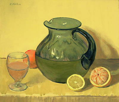 Painting - A Citrus Juice Fantasy by Robert Holden